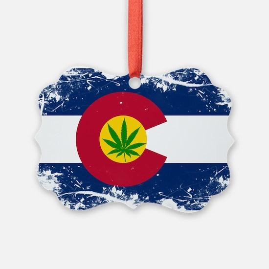 Colorado Marijuana Flag Ornament