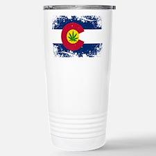 Colorado Marijuana Flag Travel Mug