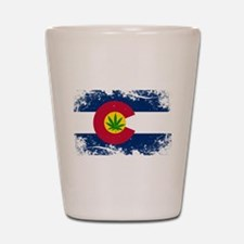 Colorado Marijuana Flag Shot Glass