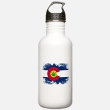Colorado Marijuana Flag Water Bottle