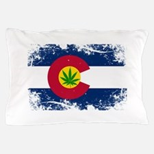 Colorado Marijuana Flag Pillow Case