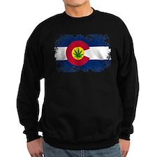 Colorado Marijuana Flag Sweatshirt