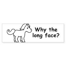 Long Face Bumper Bumper Sticker