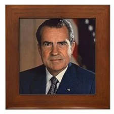 Richard M. Nixon Framed Tile