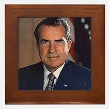 Richard M. Nixon Framed Tile
