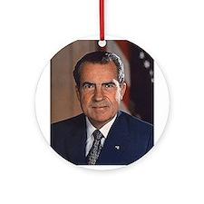 Richard M. Nixon Ornament (Round)