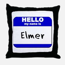hello my name is elmer  Throw Pillow