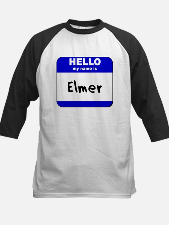 hello my name is elmer Kids Baseball Jersey