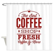 The Best Coffee Shop Shower Curtain