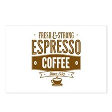 Espresso Coffee Postcards (Package of 8)