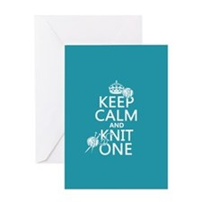 Keep Calm and Knit One Greeting Cards