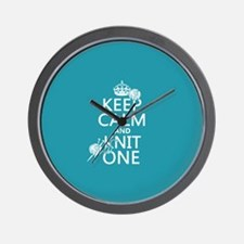 Keep Calm and Knit One Wall Clock