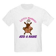 Girl Monkey Personalized T-Shirt