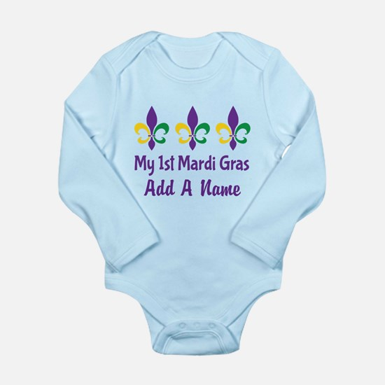 Personalized 1st Mardi Gras Body Suit