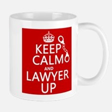 Keep Calm and Lawyer Up Mugs