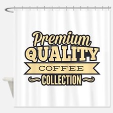 Premium Quality Coffee Collection Shower Curtain