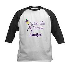 Mardi Gras Princess Personalized Baseball Jersey