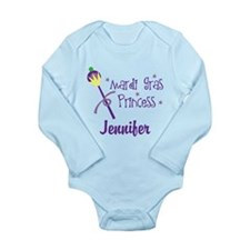 Mardi Gras Princess Personalized Body Suit