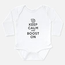 Keep Calm Boost On Long Sleeve Infant Bodysuit
