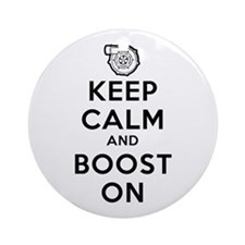 Keep Calm Boost On Ornament (Round)