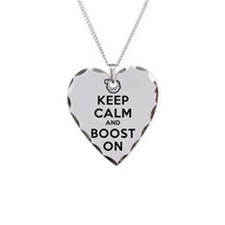 Keep Calm Boost On Necklace