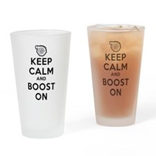 Keep Calm Boost On Drinking Glass