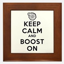 Keep Calm Boost On Framed Tile