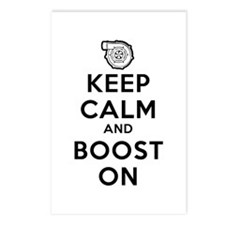 Keep Calm Boost On Postcards (Package of 8)
