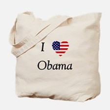 I love Obama (flag) Tote Bag