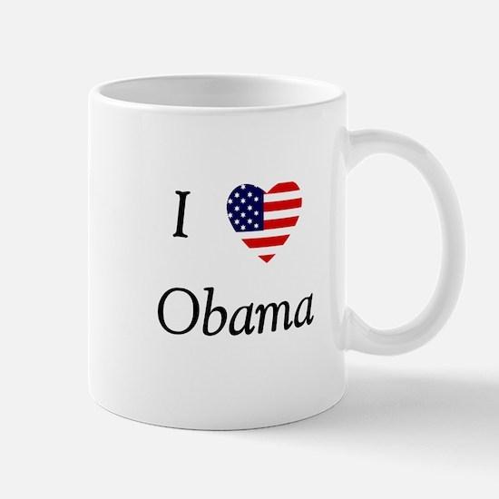 I love Obama (flag) Mug