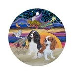 Xmasangel-Two Cavaliers Ornament (round)