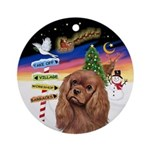 Xsigns-Ruby Cavalier Ornament (round)