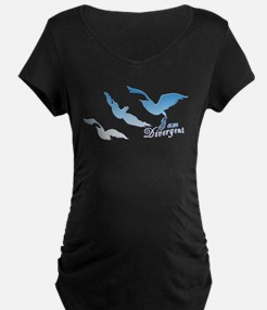 I am Divergent SkyBlue Maternity T-Shirt