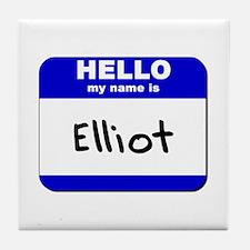 hello my name is elliot  Tile Coaster