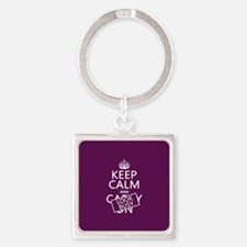 Keep Calm and Look Busy Keychains