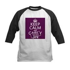 Keep Calm and Look Busy Baseball Jersey