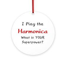 Play Harmonica Ornament (Round)