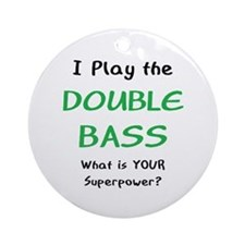 Play Double Bass Ornament (Round)