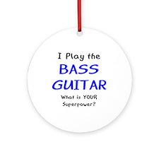 Play Bass Guitar Ornament (Round)