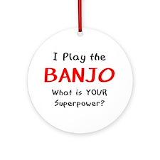 Play Banjo Ornament (Round)