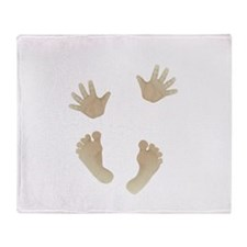 Adorable Baby Hand and Feet Throw Blanket