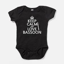 Keep Calm and Love Bassoon Baby Bodysuit