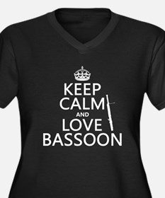 Keep Calm and Love Bassoon Plus Size T-Shirt