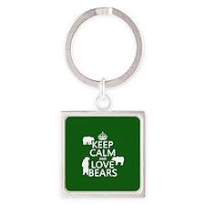 Keep Calm and Love Bears Keychains