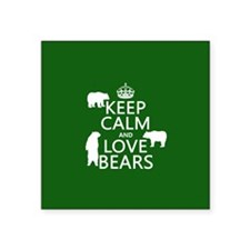 Keep Calm and Love Bears Sticker