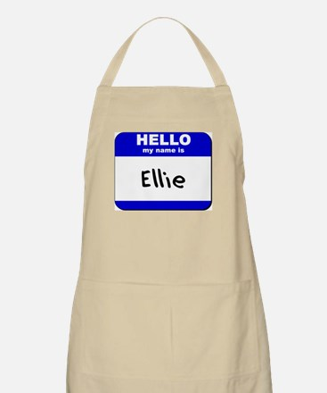 hello my name is ellie  BBQ Apron