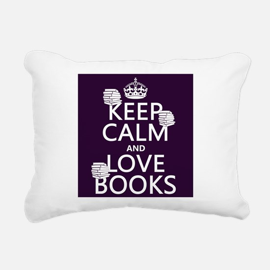 Keep Calm and Love ... Rectangular Canvas Pillow