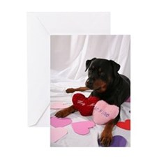 Rottweiler Valentine Greeting Cards