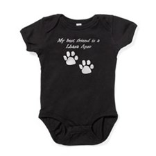 My Best Friend Is A Lhasa Apso Baby Bodysuit