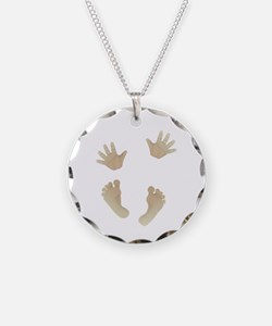 Adorable Baby Hand and Feet Necklace